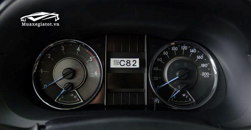 Toyota Fortuner 2018 máy dầu số sàn, cụm đồng hồ
